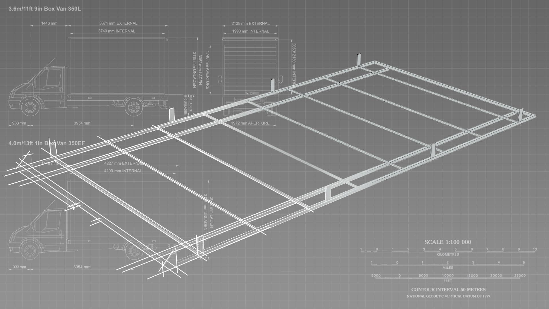 Sdv Roof Racks Heavy Duty Galvanised Steel Roof Racks